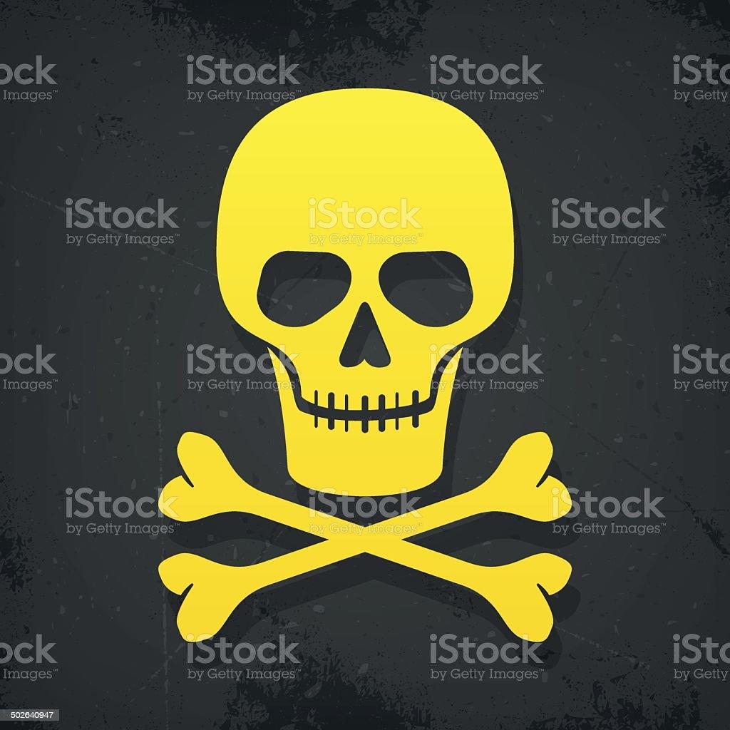 skull and crossbones poster vector art illustration