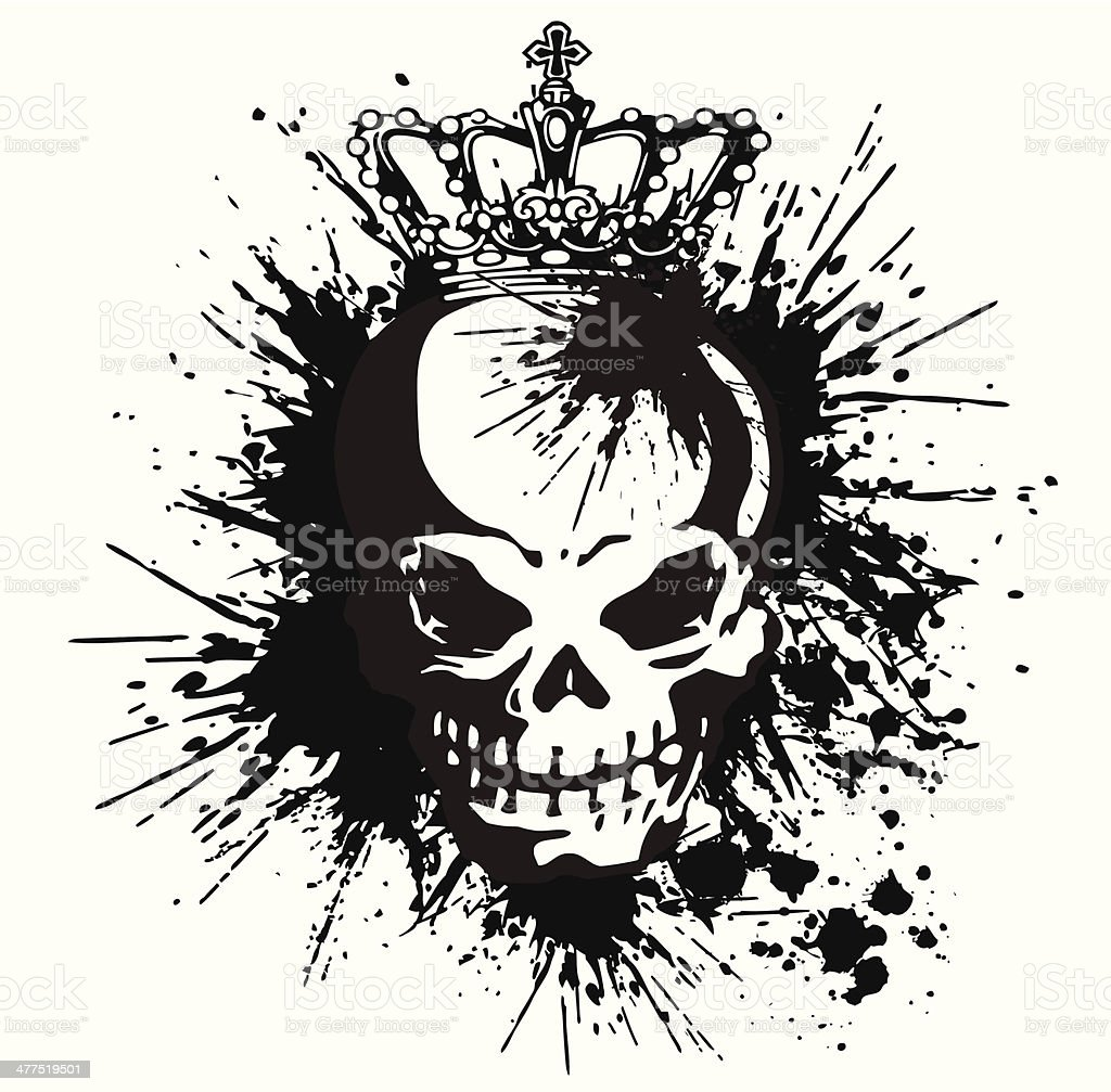 skull and paint, vector art illustration