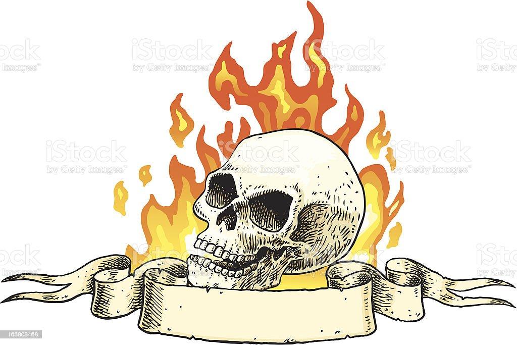 Skull Banner vector art illustration
