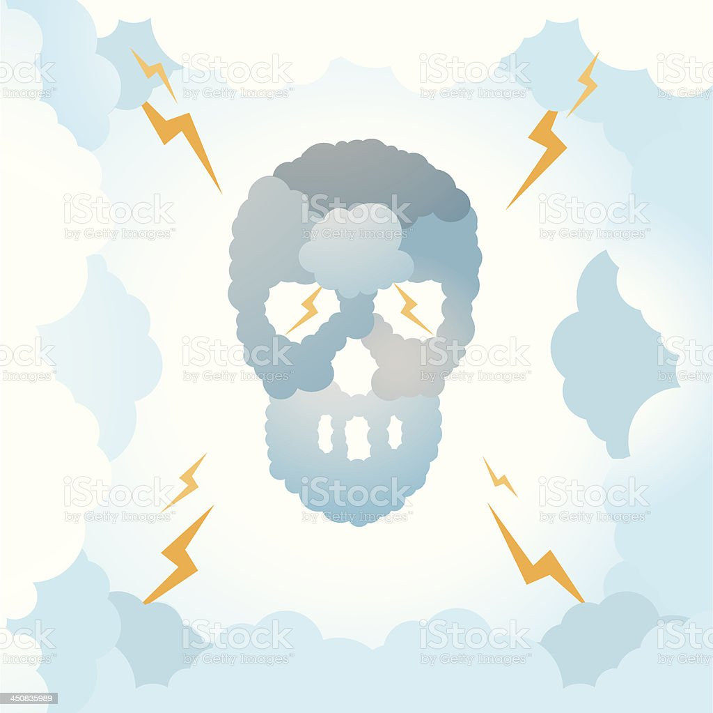 Skull Clouds royalty-free stock vector art