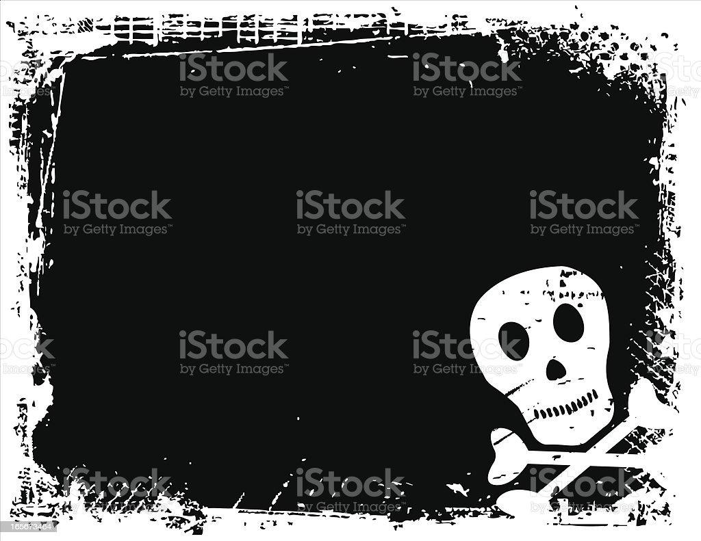 Skull & Crossbone Background vector art illustration