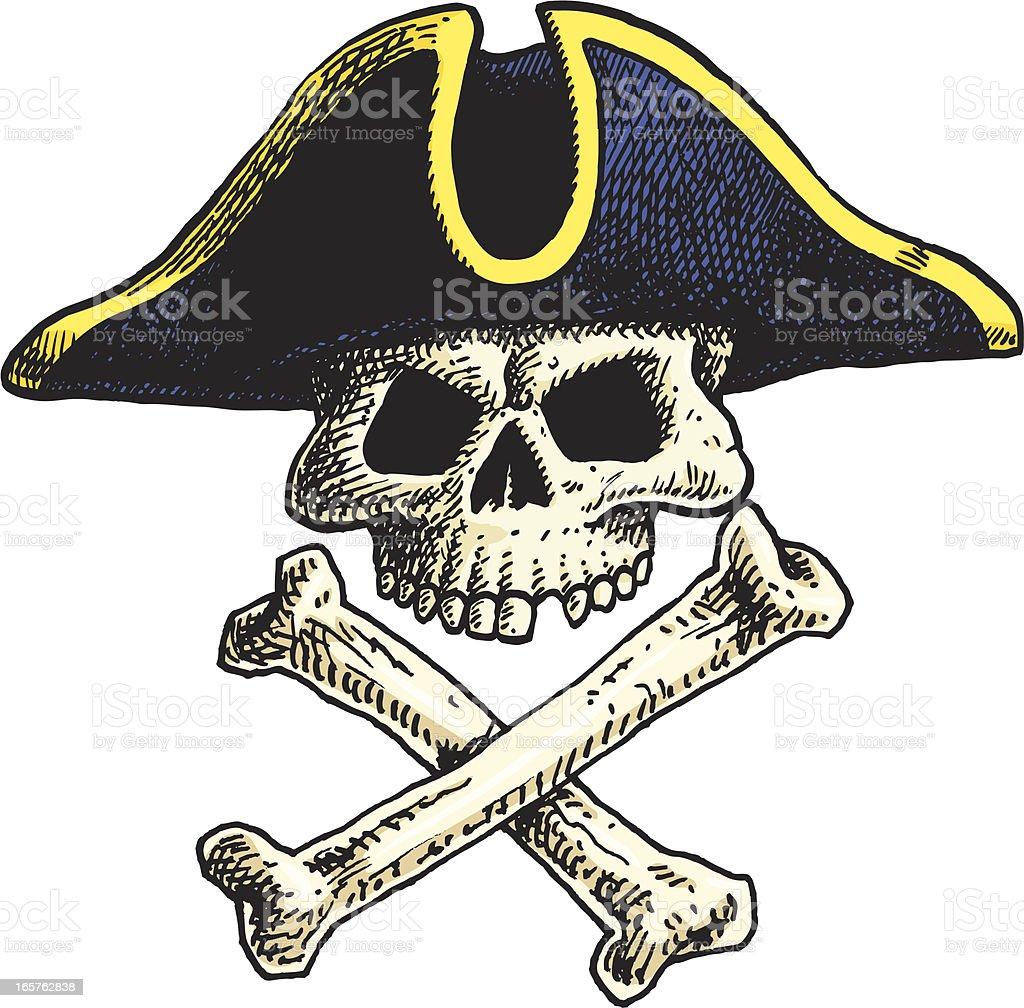 Skull & Crossbones royalty-free stock vector art