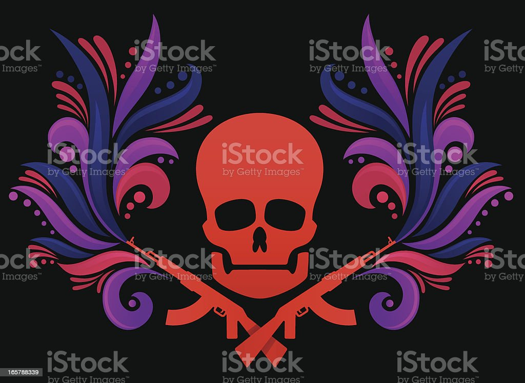 Skull Decoration royalty-free stock vector art