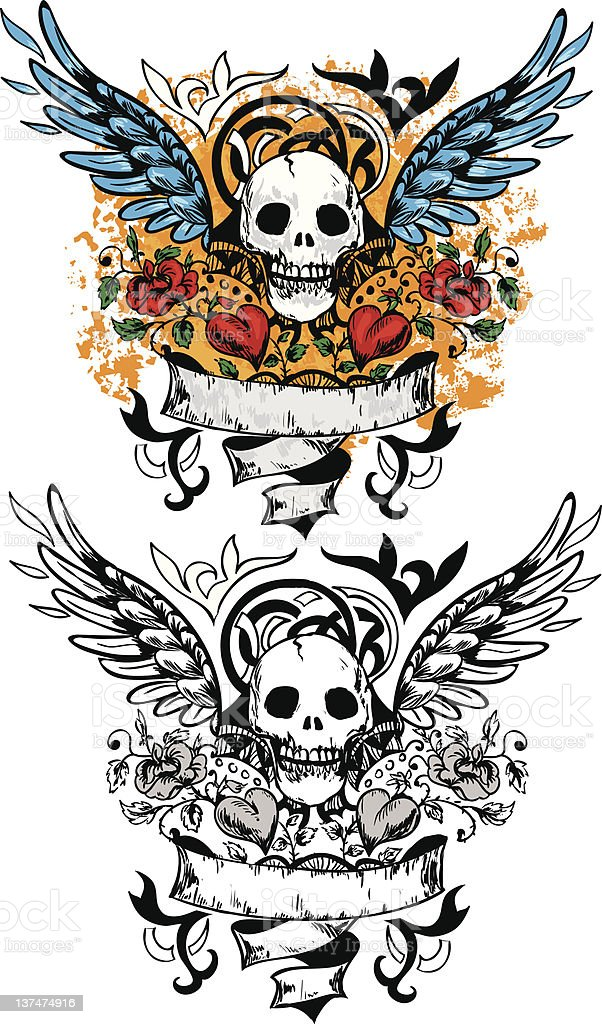 Skull design royalty-free stock vector art