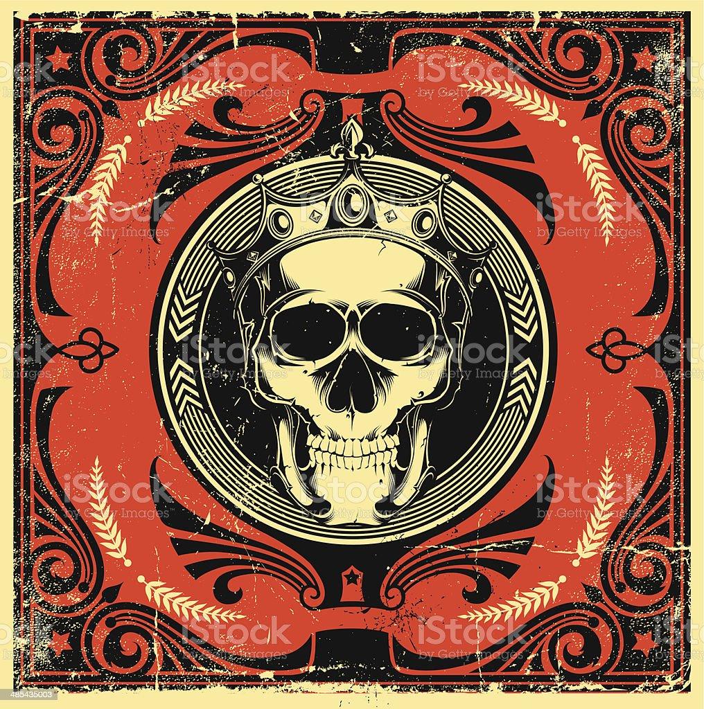 Skull design vector art illustration