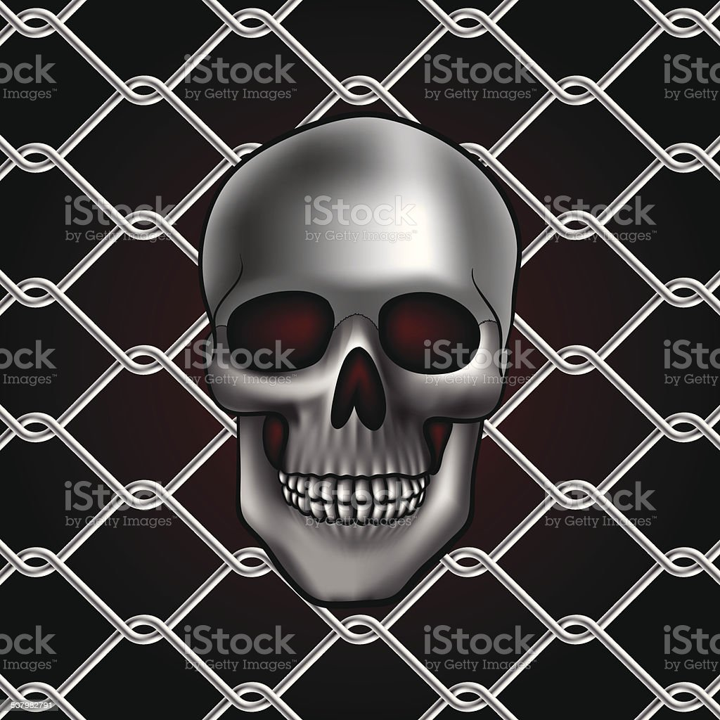 skull fence royalty-free stock vector art