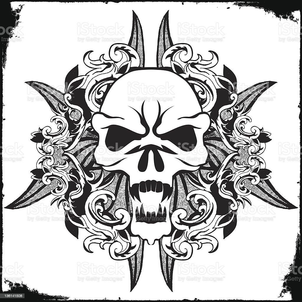 Skull foliage royalty-free stock vector art