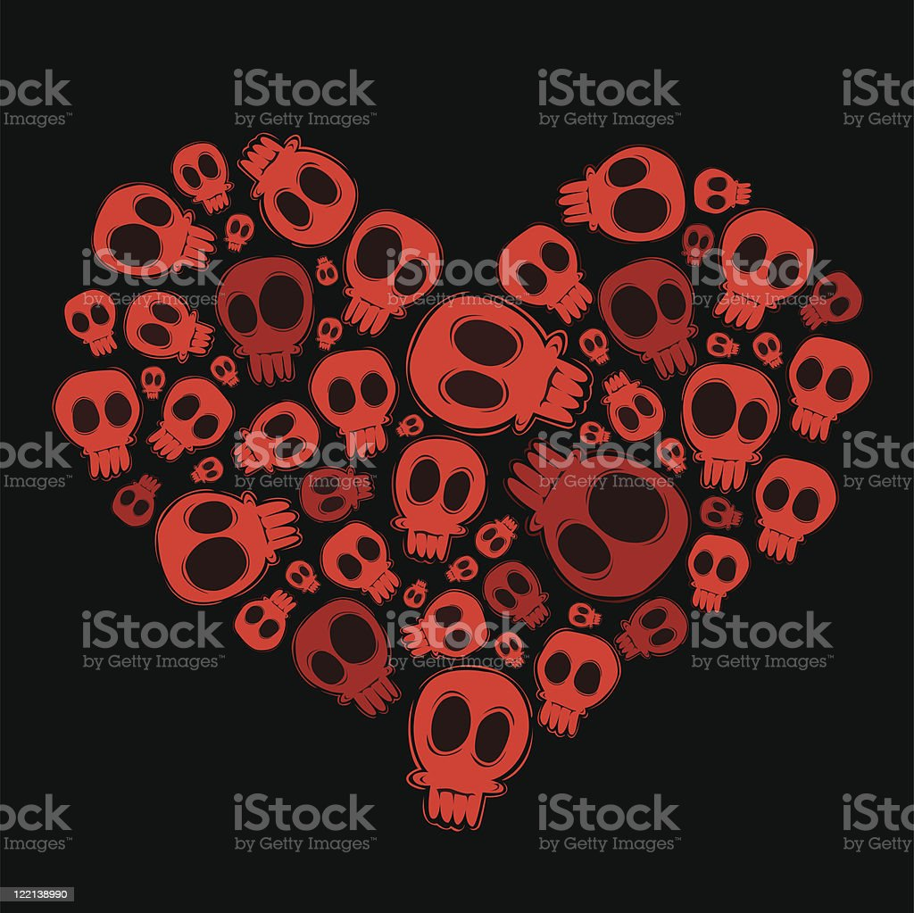 skull heart royalty-free stock vector art