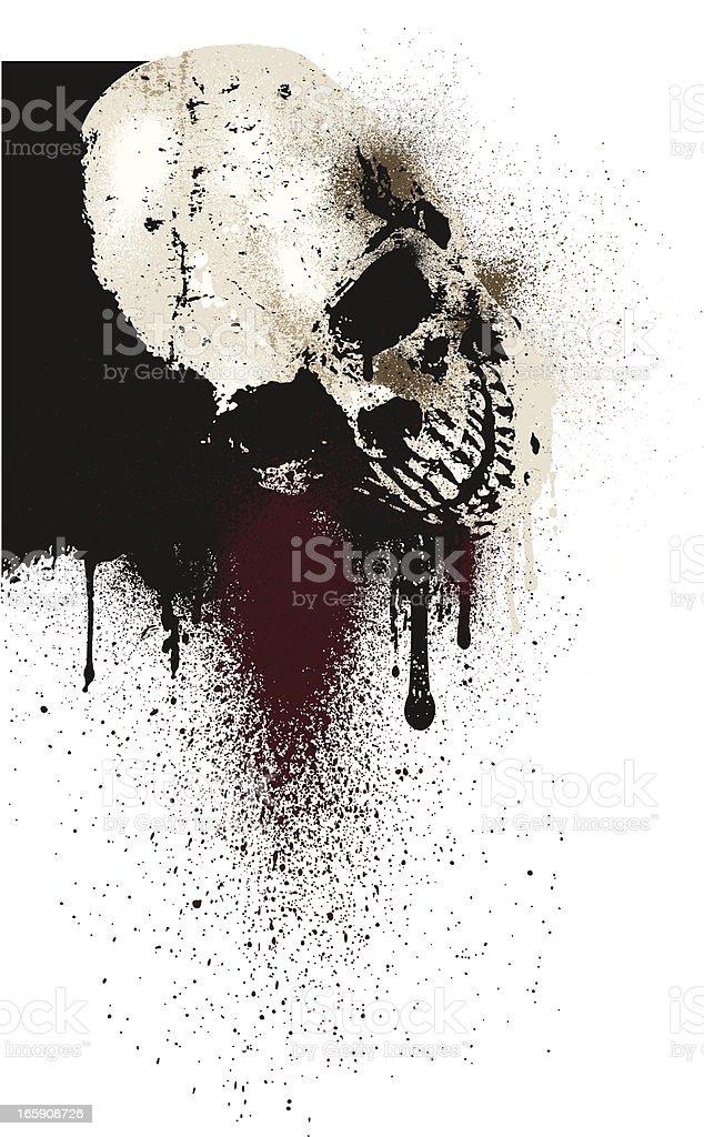 Skull Horror Background royalty-free stock vector art
