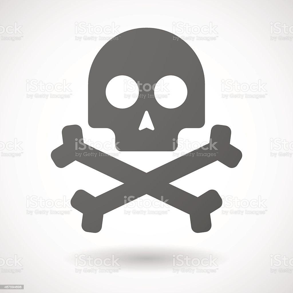 skull  icon on white background vector art illustration
