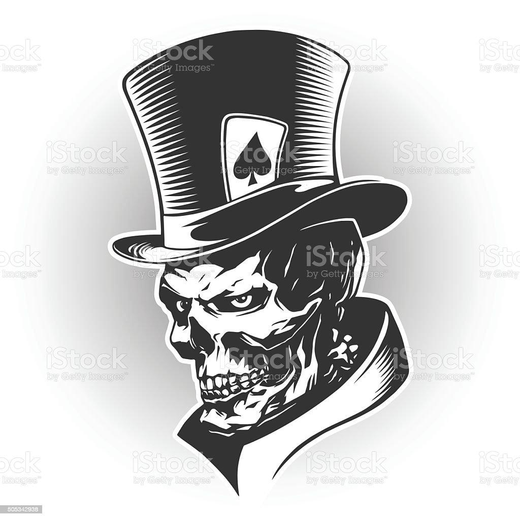 Skull illustration vector art illustration