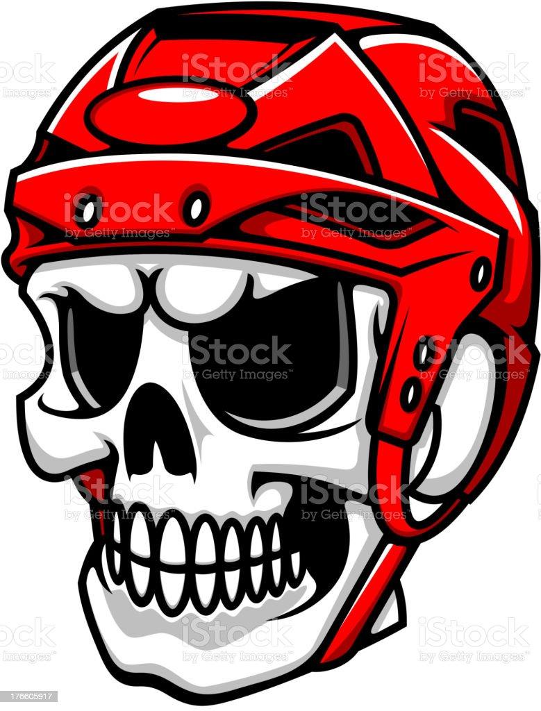 Skull in hockey helmet royalty-free stock vector art