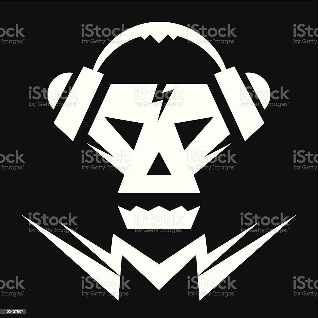 Skull Music Logo Sign royalty-free stock vector art