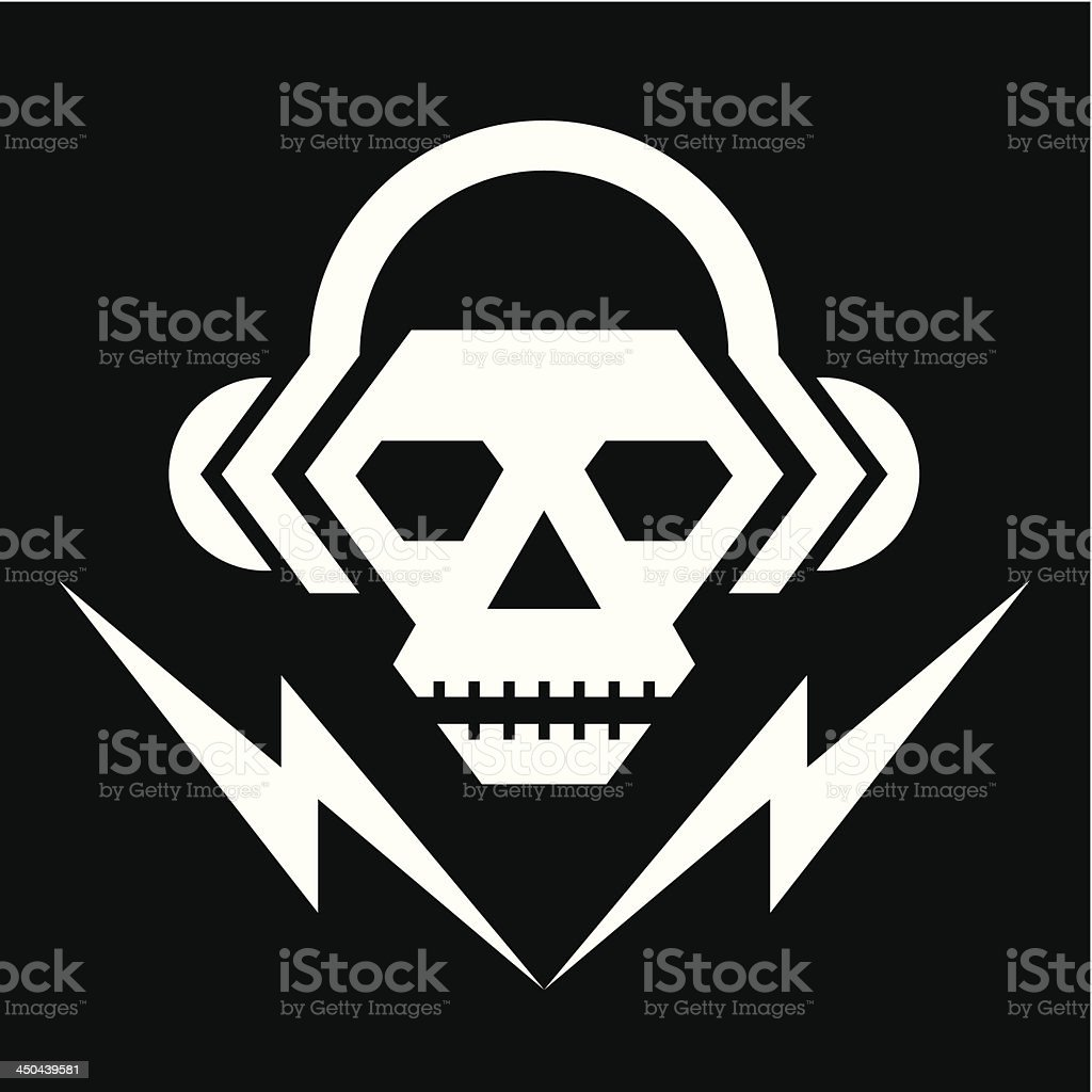 Skull Music Logo Sign royalty-free stock vector art