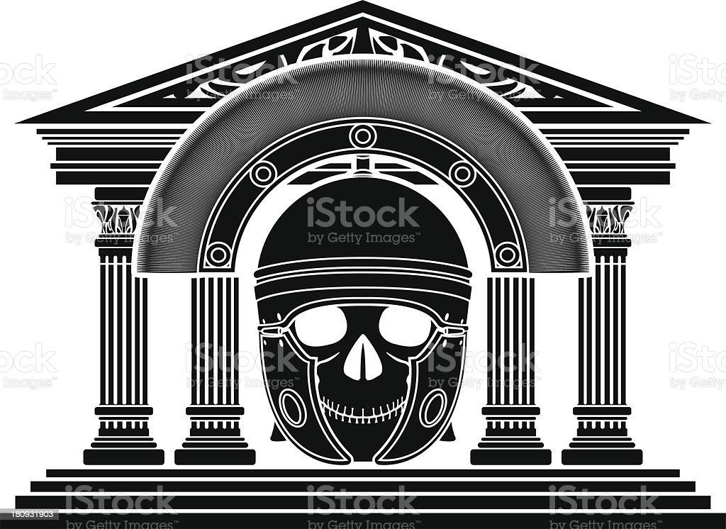 skull of roman centurion royalty-free stock vector art