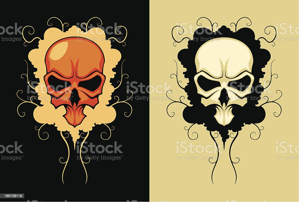 Skull on the stylized background royalty-free stock vector art