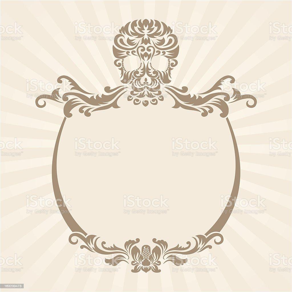 Skull Ornament Frame royalty-free stock vector art