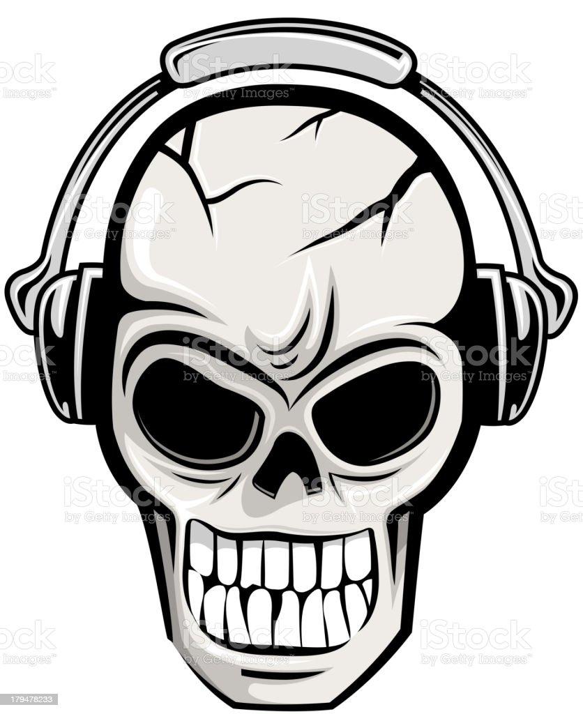 skull party royalty-free stock vector art