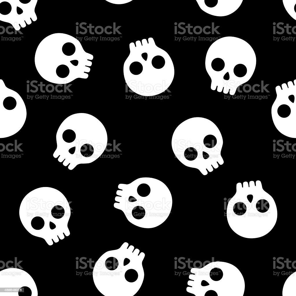 Skull Pattern 4 vector art illustration