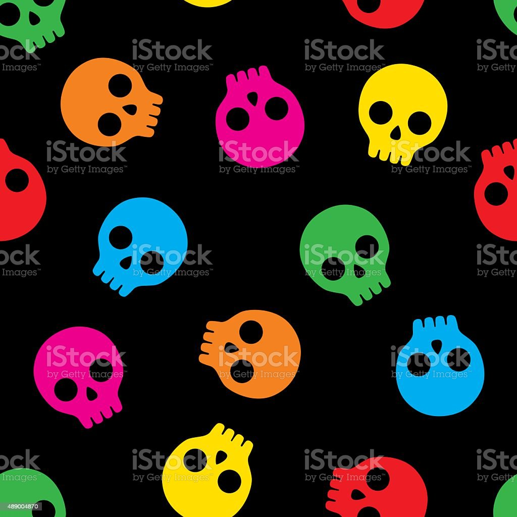 Skull Pattern 5 vector art illustration