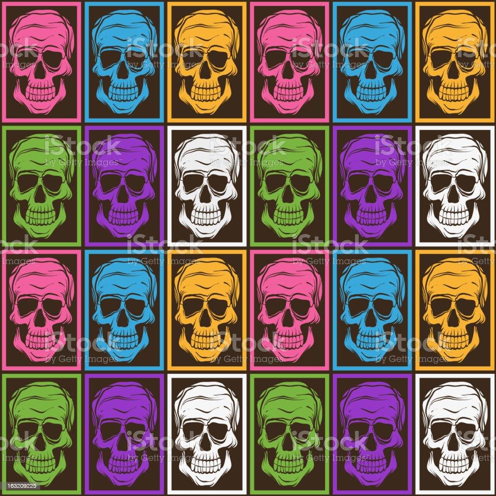 Skull pattern royalty-free stock vector art