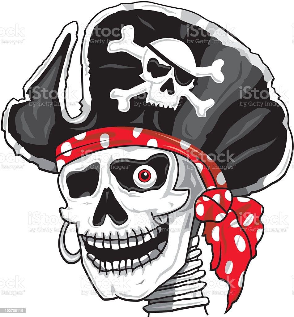 Skull Pirate royalty-free stock vector art