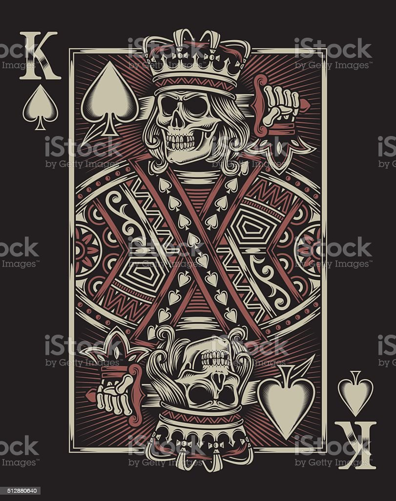 Skull Playing Card vector art illustration