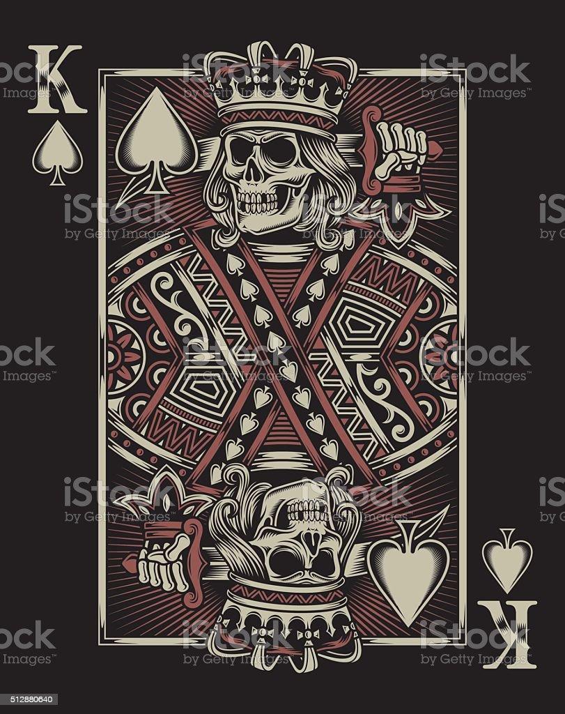 Skull Playing Card vector art illustration