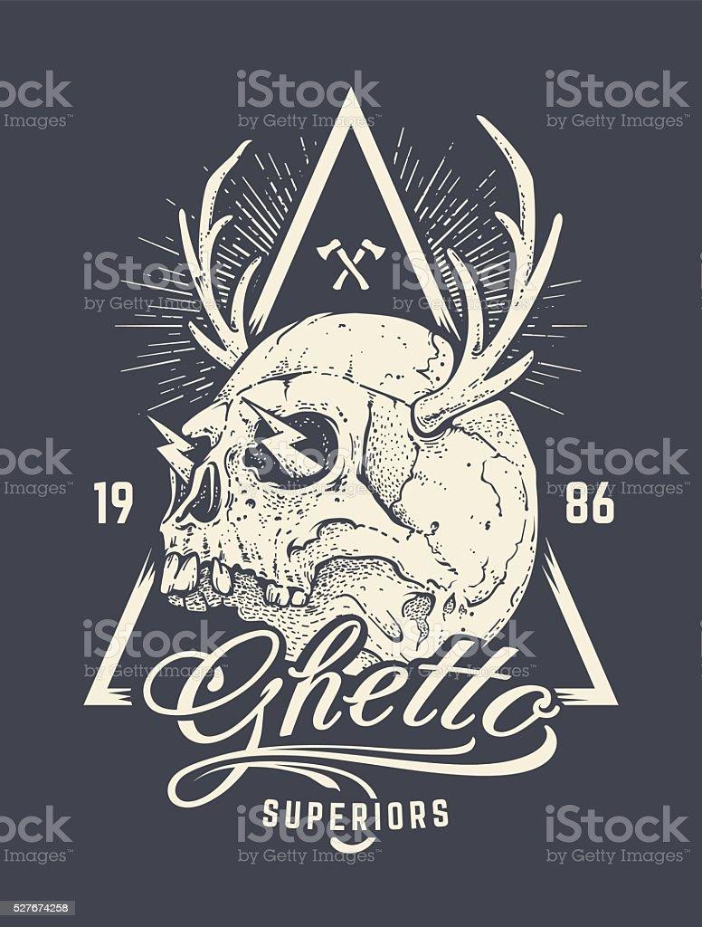 Skull Print Vector vector art illustration