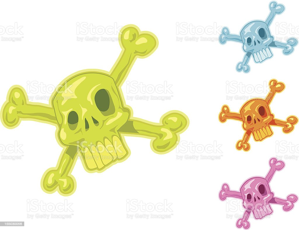 Skull Set royalty-free stock vector art