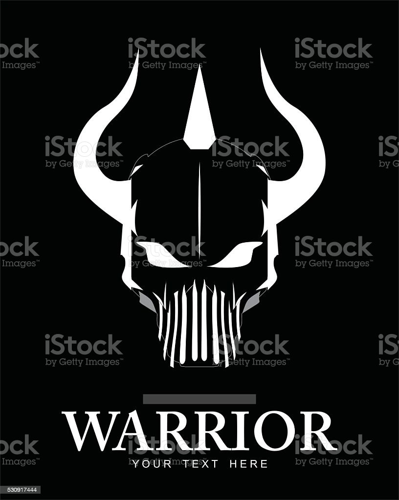 Skull, Skull with the horn. vector art illustration