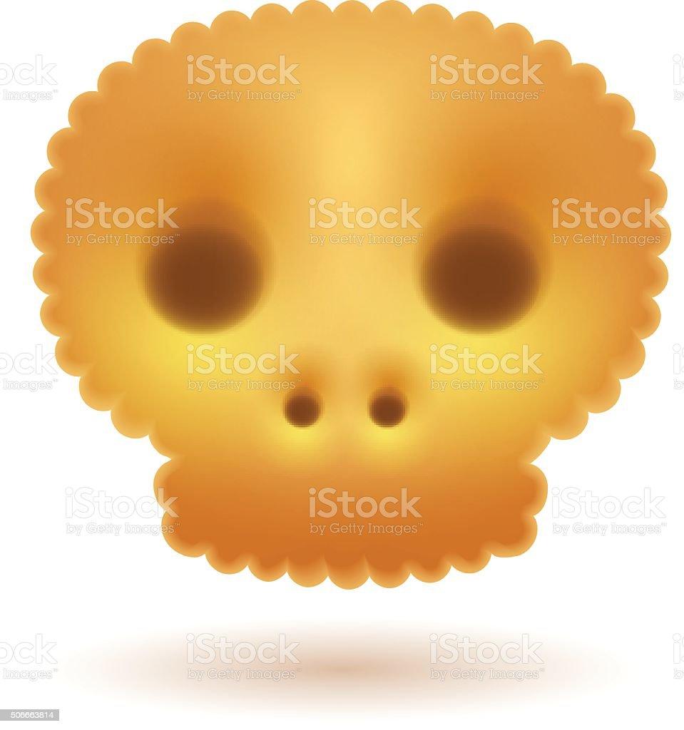 Skull symbol cracker royalty-free stock vector art