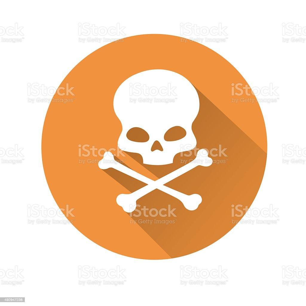 Skull symbol vector art illustration