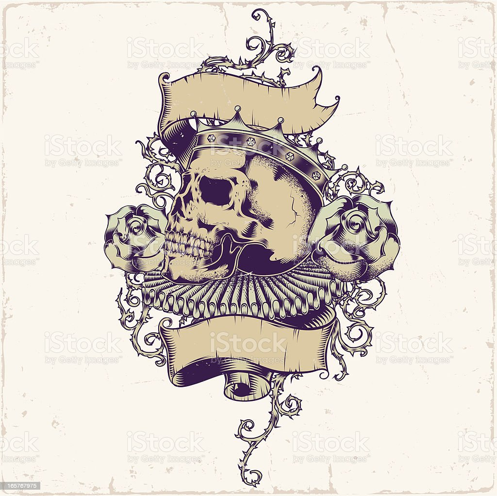 Skull tattoo design royalty-free stock vector art