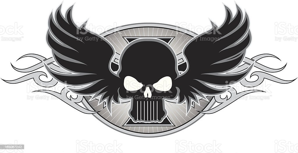 skull tattoo royalty-free stock vector art