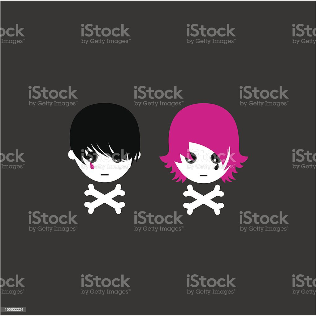 Skull teens royalty-free stock vector art