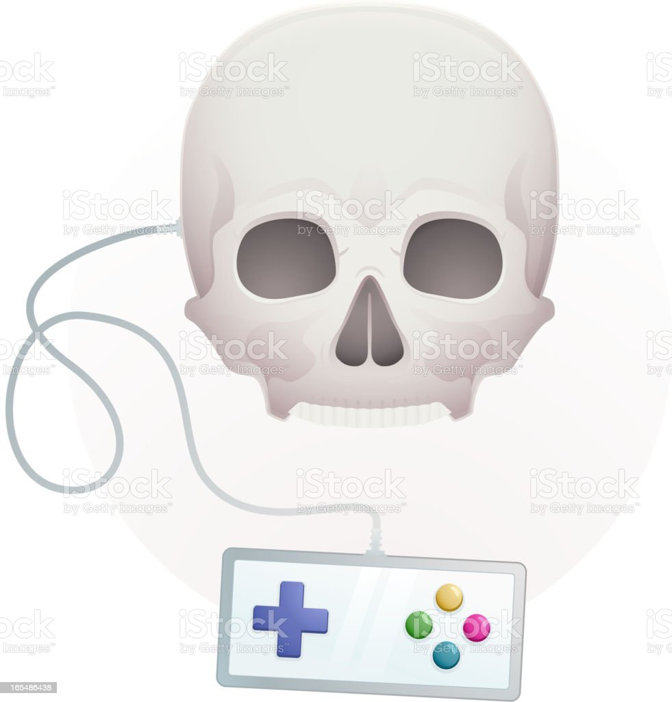 skull with a gamepad royalty-free stock vector art