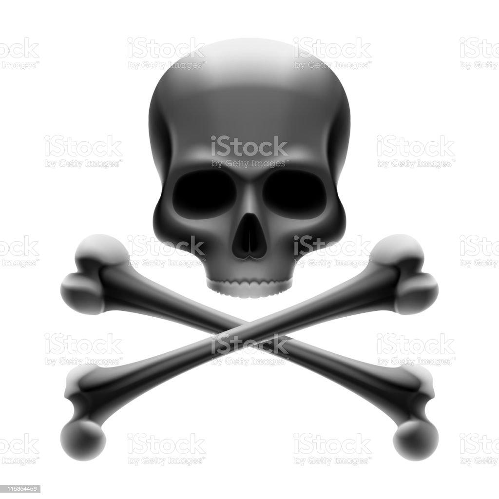 Skull with bones. Jolly Roger. Vector. vector art illustration