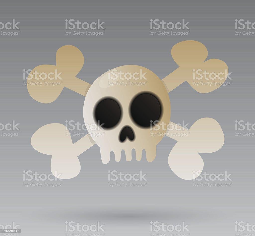 Skull with crossbones royalty-free stock vector art