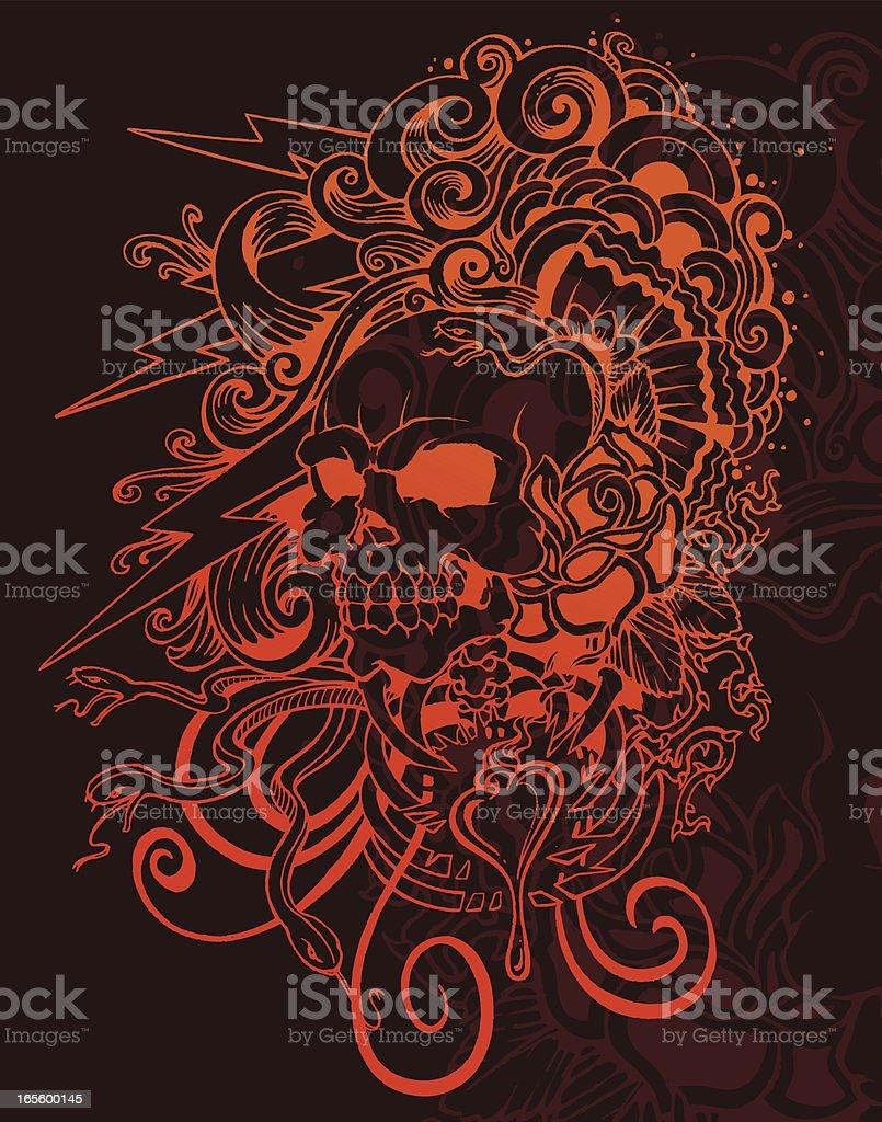 skullblaster royalty-free stock vector art