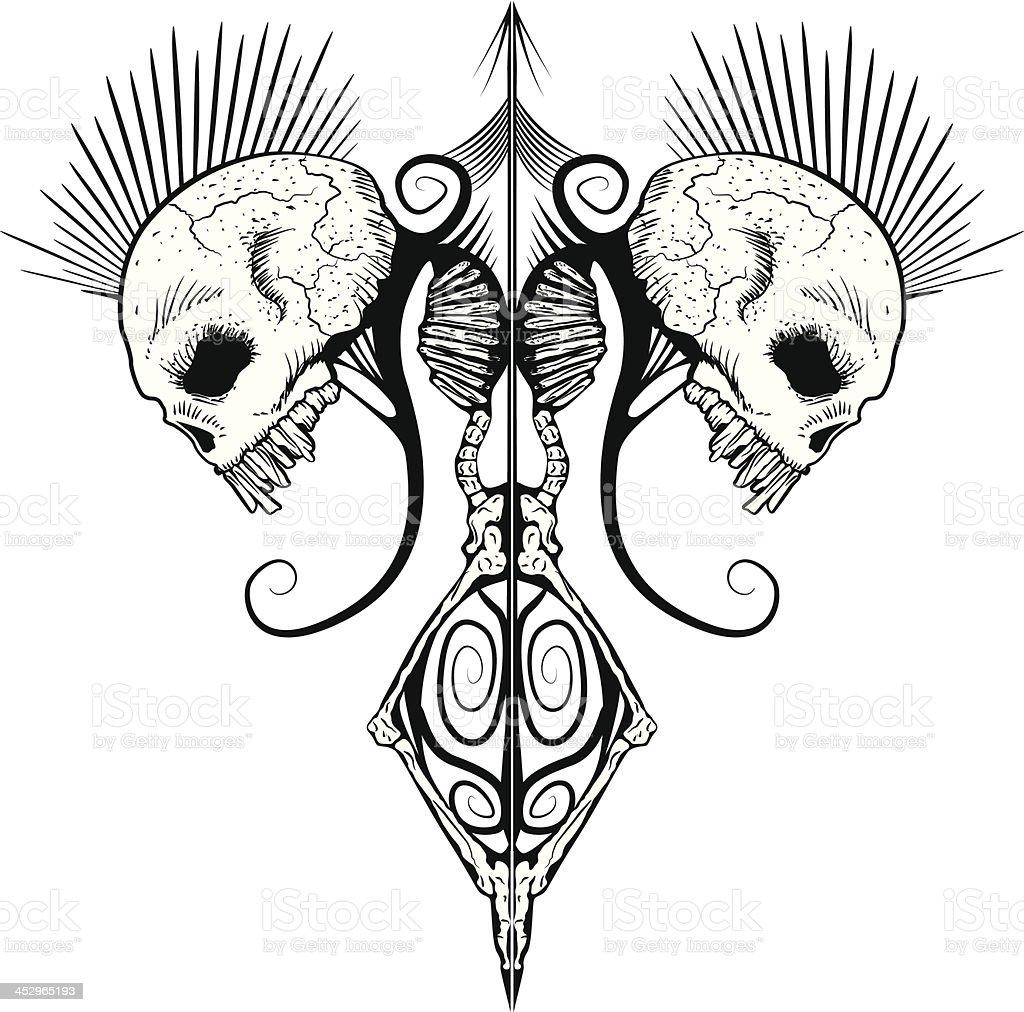 Skulls and Bones vector art illustration