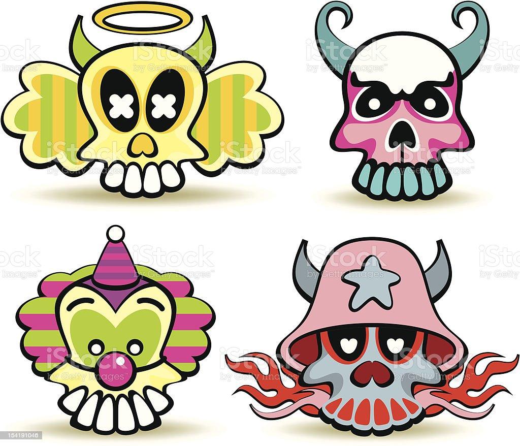 skulls royalty-free stock vector art