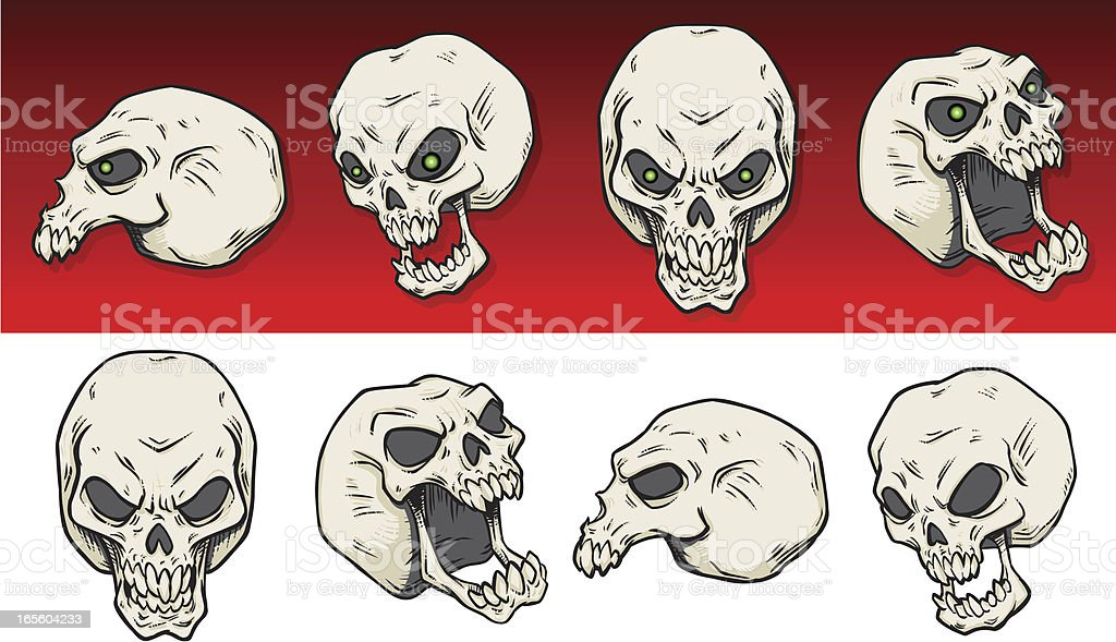 Skulls royalty-free stock vector art