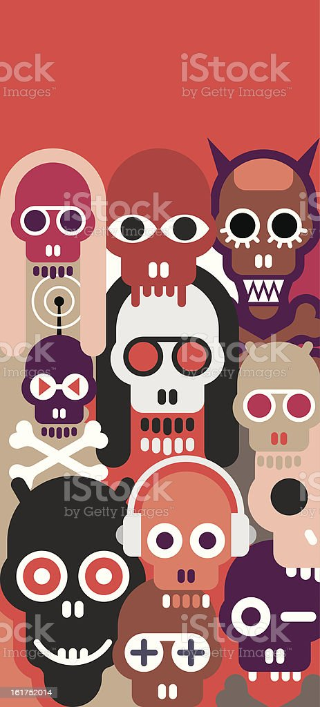 Skulls vector illustration royalty-free stock vector art