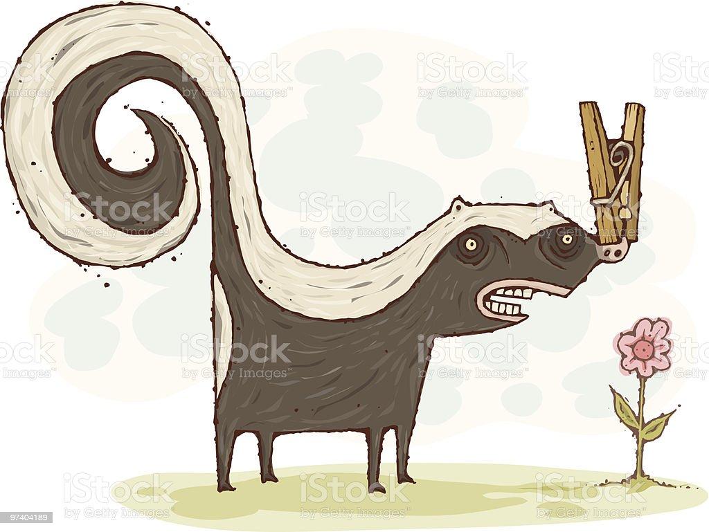 Skunk royalty-free stock vector art