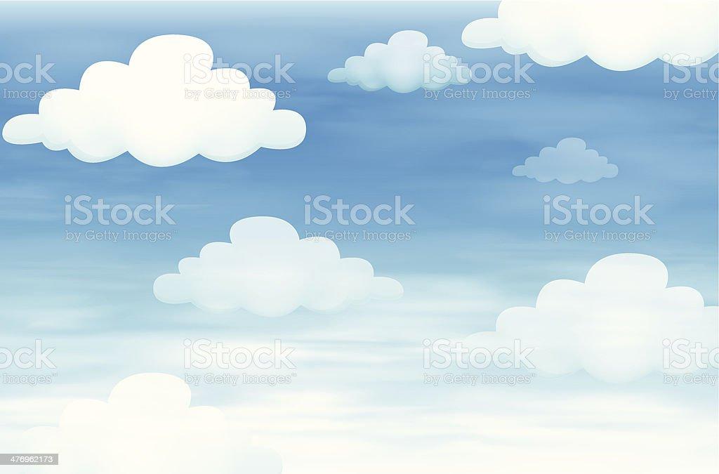 Sky and cloud vector art illustration