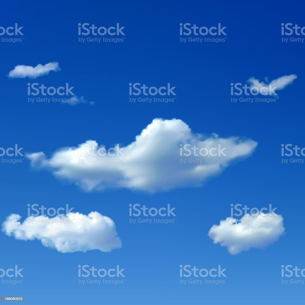 Sky background with clouds royalty-free stock vector art