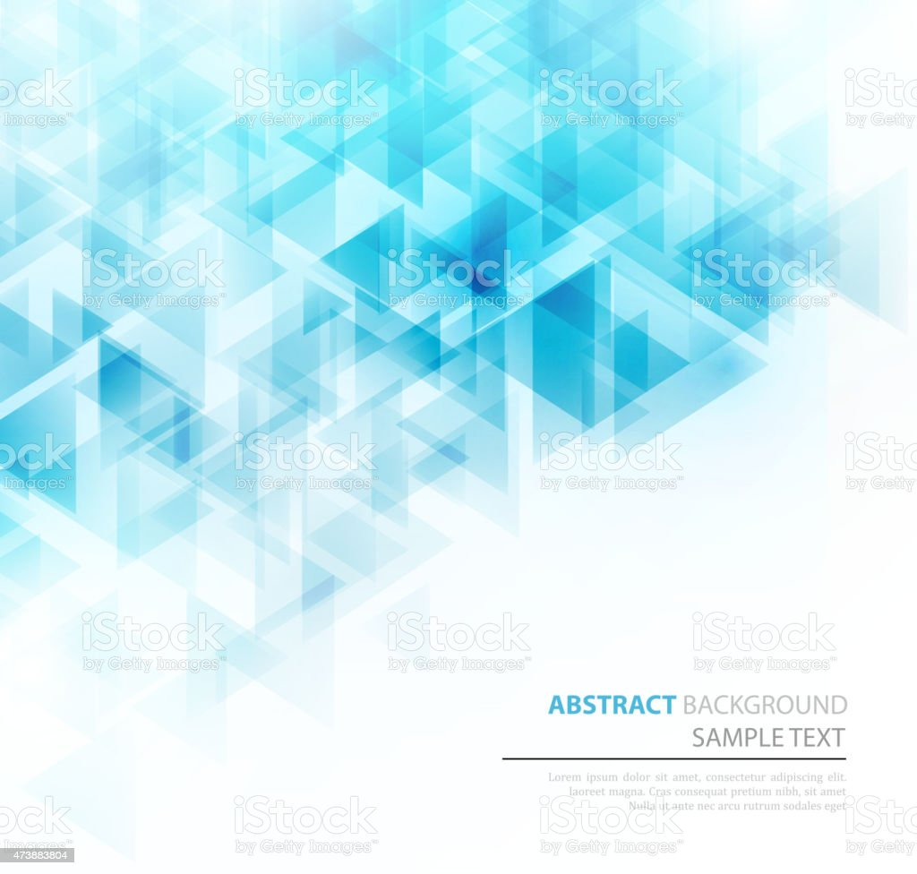 Sky blue triangle abstract pattern vector art illustration