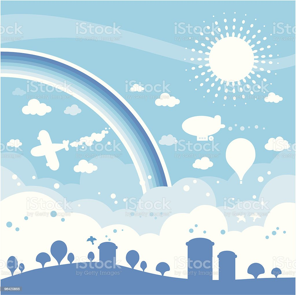 sky land royalty-free stock vector art
