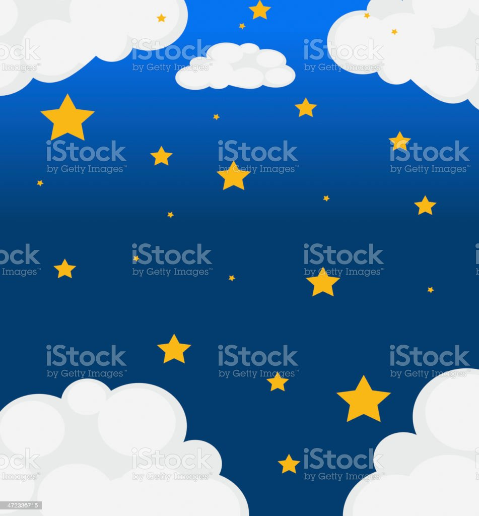 Sky with bright stars royalty-free stock vector art